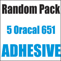 Oracal® 651™ Random 5 Color Pack 12x12 Sheets - CraftCutterSupply.com