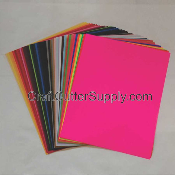 Solid Color HTV Pack With 48 Colors 12x15 Sheets - CraftCutterSupply.com