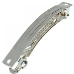 50mm French Barrette Hair Clips-Silver - CraftCutterSupply.com