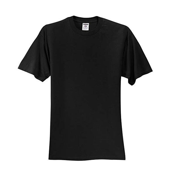 Adult Jerzees Brand 5.6oz 50/50 T-Shirt Color-Black - CraftCutterSupply.com