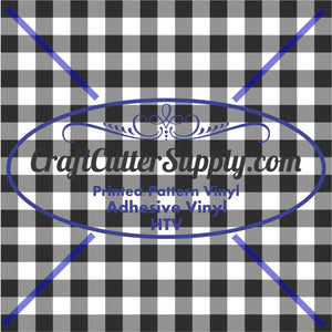 Black And White Plaid Print 12x12 - CraftCutterSupply.com