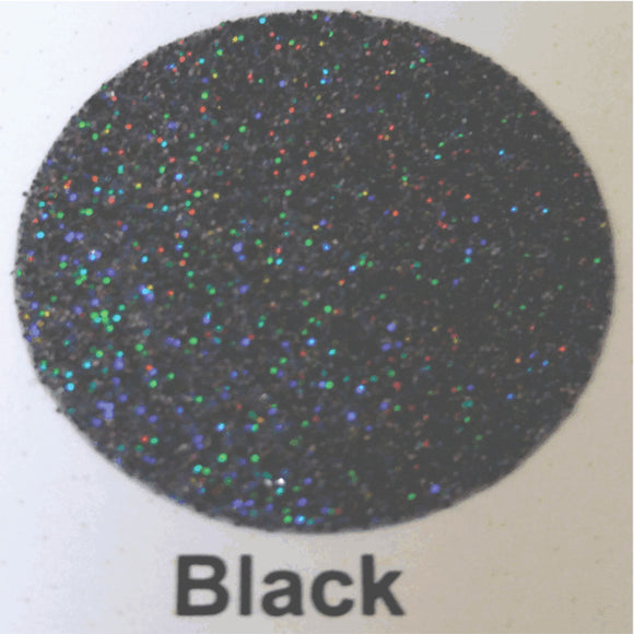 GlitterFlex® II Black 12x19 HTV (Color is more dark grey/black)
