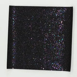 Black Glitter With Star Fabric Synthetic Faux PU Leather 11.75in x 12in Sheets - CraftCutterSupply.com