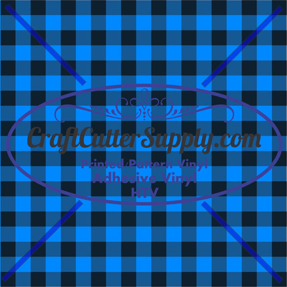 Blue Plaid 2 Print 12x12 - CraftCutterSupply.com