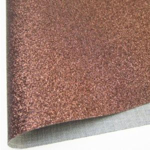Bronze Fine Glitter Fabric Synthetic Faux PU Leather 11.75in x 12in Sheets - CraftCutterSupply.com