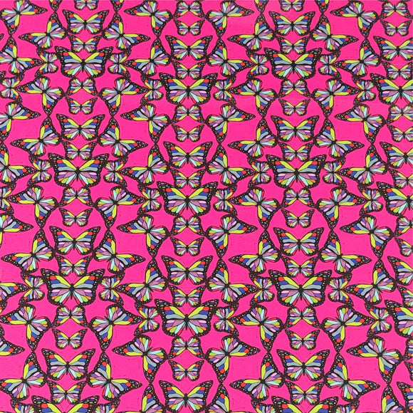 ThermoFlex® HTV Fashion Patterns 12x15 Sheets-Bubblegum Butterfly - CraftCutterSupply.com