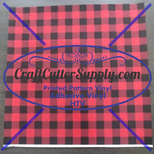 """Holiday Special"" Glitter Buffalo Red Plaid Print HTV 12x12 Sheets - CraftCutterSupply.com"