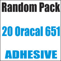 Oracal 651 Random 20 Color Pack 12x12 Sheets - CraftCutterSupply.com