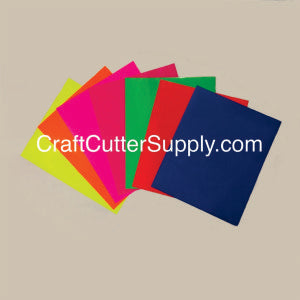 Fluorescent HTV Pack 12x15 Sheets - CraftCutterSupply.com
