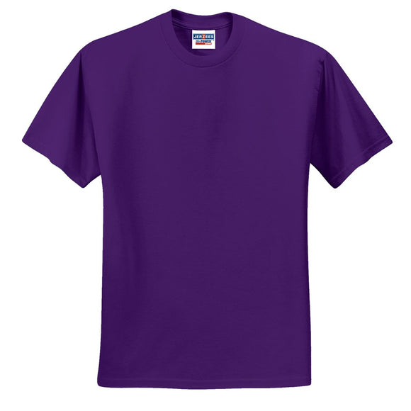 Adult Jerzees Brand 5.6oz 50/50 T-Shirt Color-Deep Purple - CraftCutterSupply.com