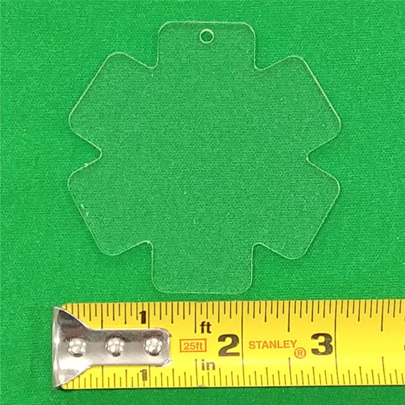 Acrylic EMS Star Of Life Shape With Hole Approx 3 inch wide - CraftCutterSupply.com