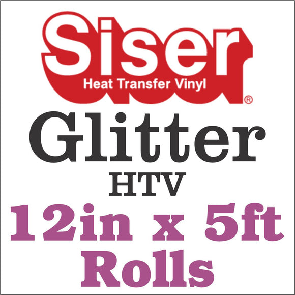 Siser® Glitter HTV 12in x 5ft Rolls - CraftCutterSupply.com