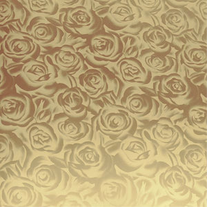 DecoFilm® Soft Metallic Gold Roses HTV - CraftCutterSupply.com