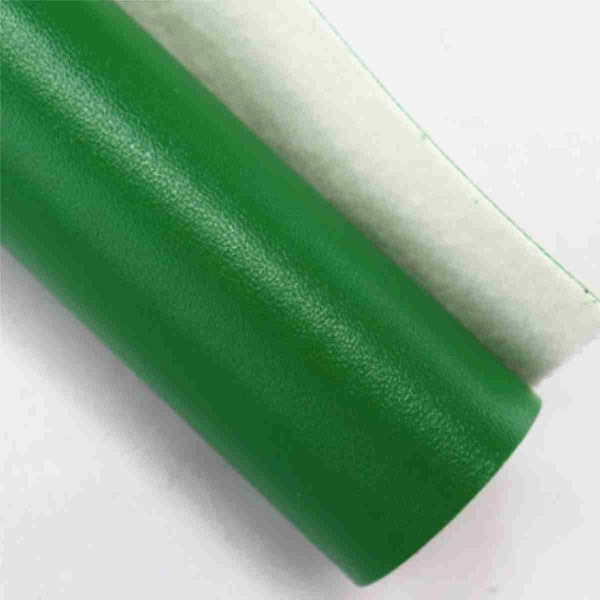 Green Fabric Synthetic Faux PU Leather 11.75in x 12in Sheets