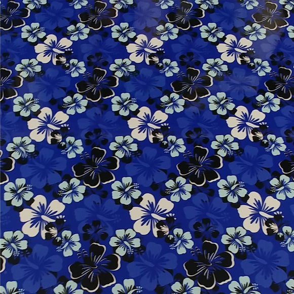 ThermoFlex® HTV Fashion Patterns 12x15 Sheets-Hawaiian Blue - CraftCutterSupply.com
