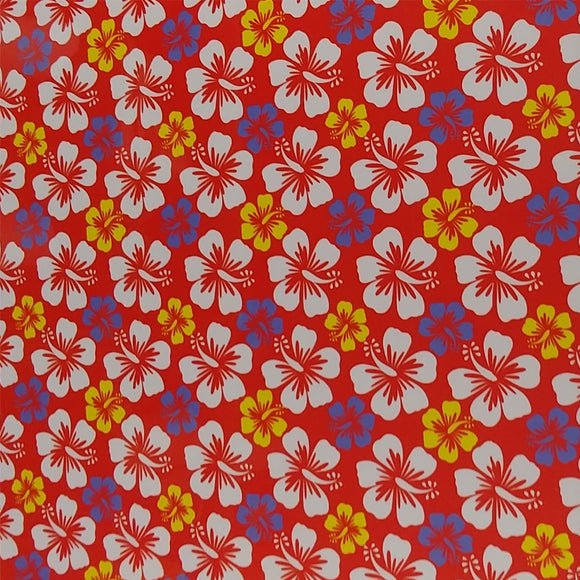 ThermoFlex® Fashion Patterns 12x15 Sheets-Hawaiian Red - CraftCutterSupply.com