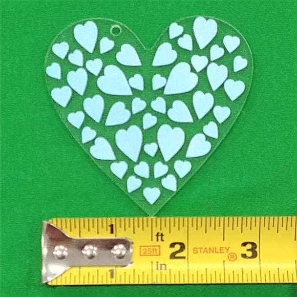 Acrylic Heart Shape With Hole Approx 3 inch wide - CraftCutterSupply.com