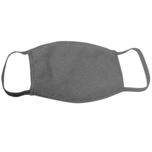 USA Made Face Mask-Heather Charcoal - CraftCutterSupply.com