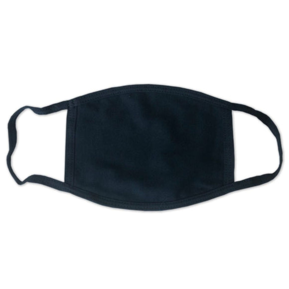 USA Made Face Mask-Heather Navy - CraftCutterSupply.com