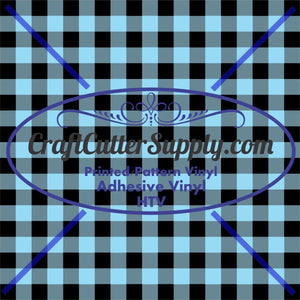 Light Blue Plaid Print 12x12 - CraftCutterSupply.com