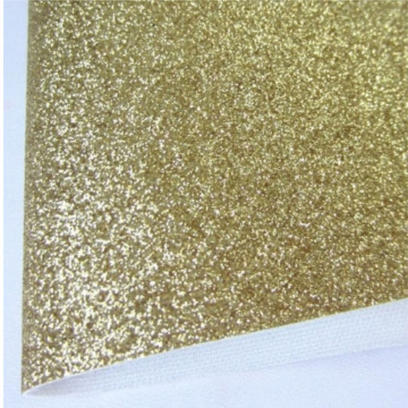 Light Gold/Tan Fine Glitter Fabric Synthetic Faux PU Leather 11.75in x 12in Sheets - CraftCutterSupply.com