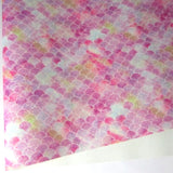 Rainbow Mermaid Scales 3 Glitter Fabric Synthetic Faux PU Leather 11.75in x 12in Sheets - CraftCutterSupply.com