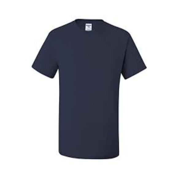 Adult Jerzees Brand 5.6oz 50/50 T-Shirt Color-J. Navy Blue - CraftCutterSupply.com