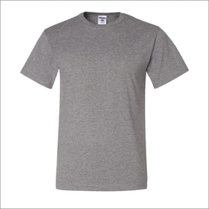 Adult Jerzees Brand 5.6oz 50/50 T-Shirt Color-Oxford - CraftCutterSupply.com