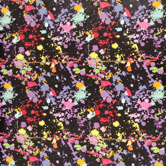 ThermoFlex® HTV Fashion Patterns 12x15 Sheets-Paint Splatter Black Base