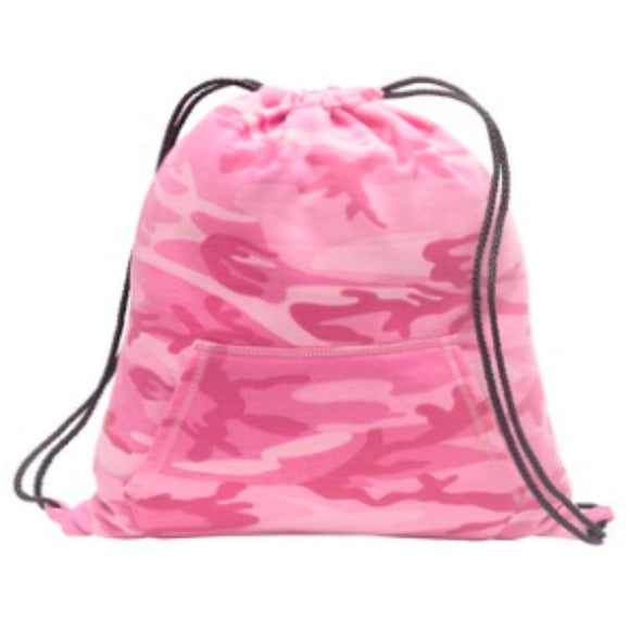 Sweatshirt Cinch Pack-Pink Camo