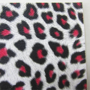 Pink Leopard Fabric Synthetic Faux PU Leather 11.75in x 12in Sheets - CraftCutterSupply.com