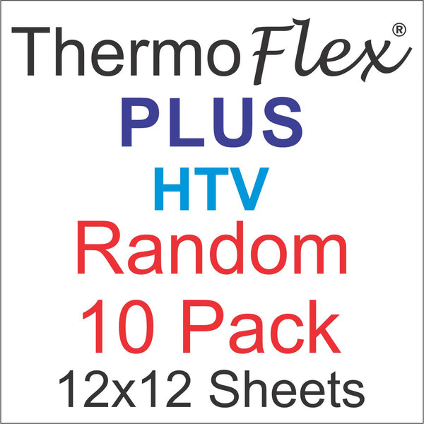Random 10 pack of ThermoFlex Plus Heat Transfer Vinyl 12x12 Sheets
