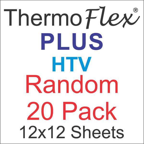 Random 20 pack of ThermoFlex Plus Heat Transfer Vinyl 12x12 Sheets