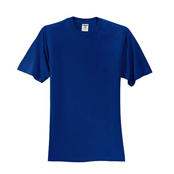 Adult Jerzees Brand 5.6oz 50/50 T-Shirt Color-Royal - CraftCutterSupply.com