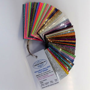 GlitterFlex® Ultra Color Sample Ring - CraftCutterSupply.com