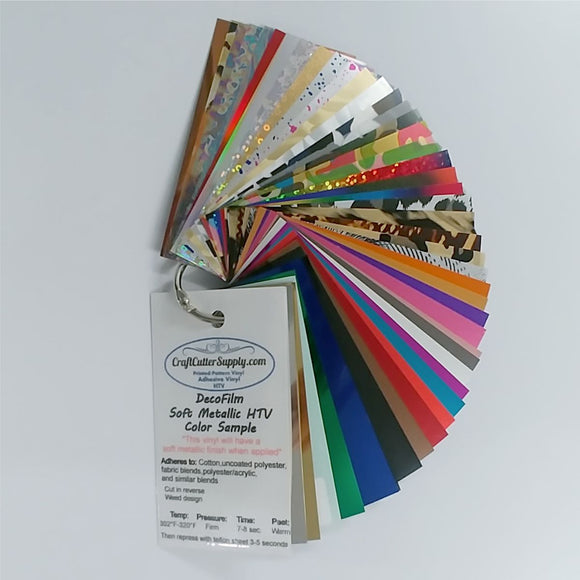 Decofilm® Soft Metallic HTV Color Sample Ring - CraftCutterSupply.com