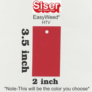 Siser® Easyweed® HTV 2in x 3.5in Labeled Color Swatch **Sample Ring Size*** - CraftCutterSupply.com