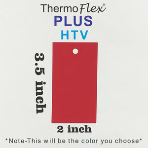 ThermoFlex® Plus HTV 2in x 3.5in Labeled Color Swatch **Sample Ring Size*** (Regular Matte Colors) - CraftCutterSupply.com