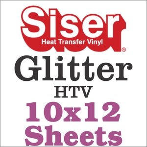 Sale-Siser® Glitter HTV 8x12 And 10x12 Sheets