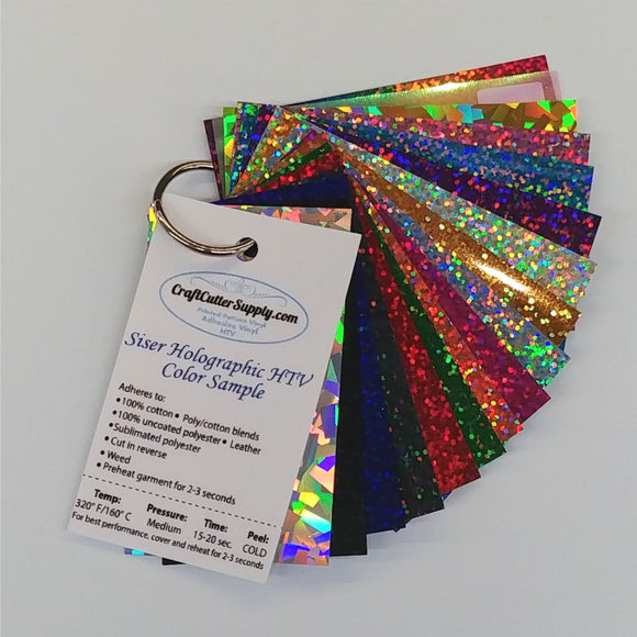 Siser® Holographic HTV Sample Ring - CraftCutterSupply.com
