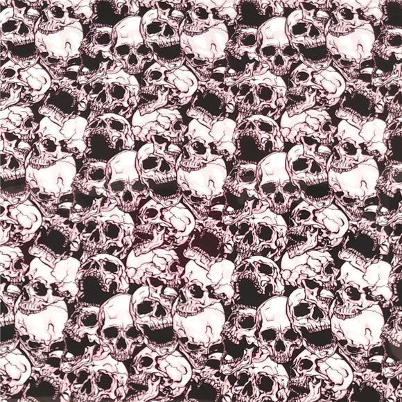 ThermoFlex® Fashion Patterns 12x15 Sheets-3D Skulls - CraftCutterSupply.com