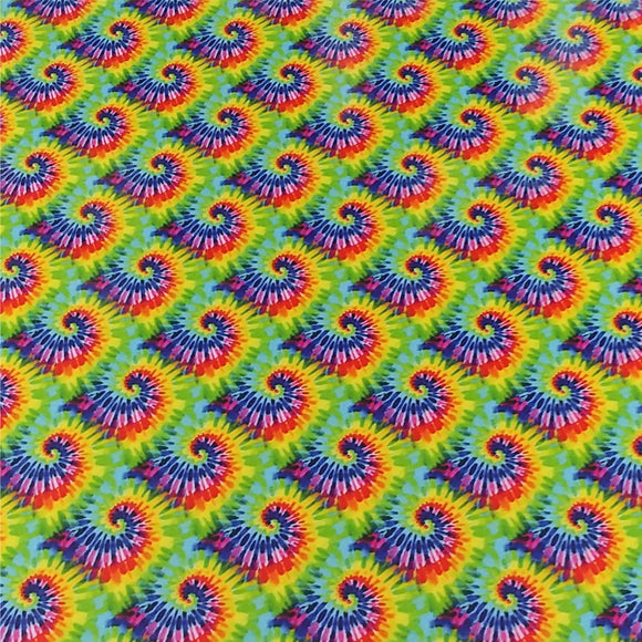 Specialty PSV™ Fashion Patterns-Small Tie Dye 12in x 15in Sheet (Permanent Adhesive Pattern Vinyl)