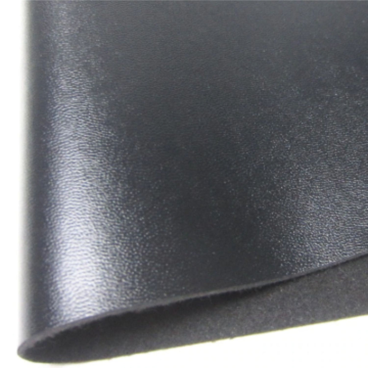 Black Smooth Fabric Synthetic Faux Pu Leather 11 75in X