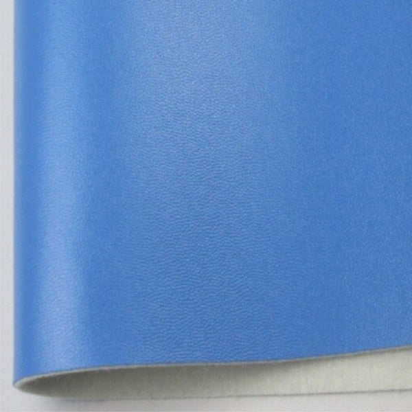 Sky Blue Smooth Fabric Synthetic Faux PU Leather 11.75in x 12in Sheets - CraftCutterSupply.com