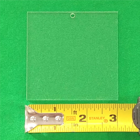Acrylic Square Shape With Hole Approx 3 inch wide - CraftCutterSupply.com