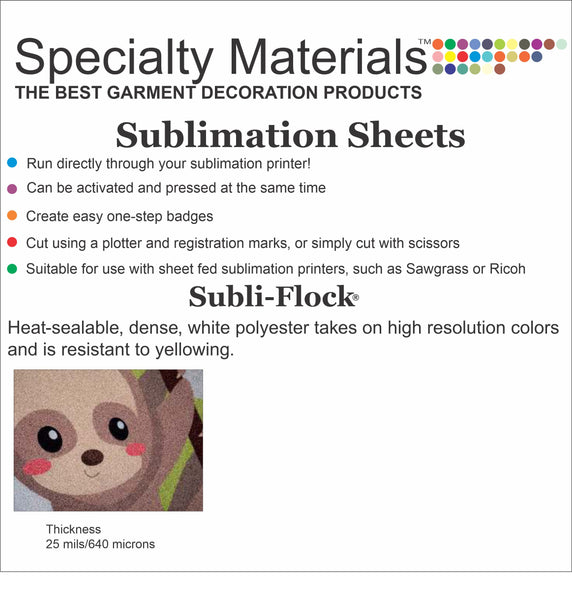 Subli-Flock® 5 Pack (For A Sublimation Printer)