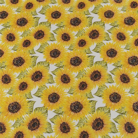 Specialty PSV™ Fashion Patterns-Sunflower 12in x 15in Sheet (Permanent Adhesive Pattern Vinyl)