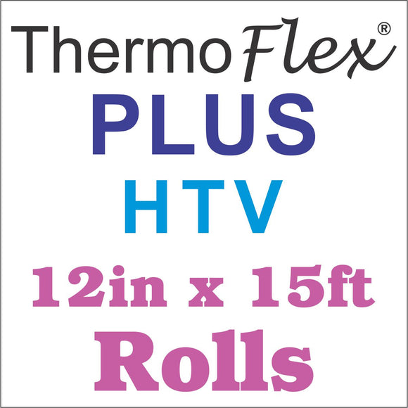 ThermoFlex® Plus HTV 12in x 15ft Rolls - CraftCutterSupply.com