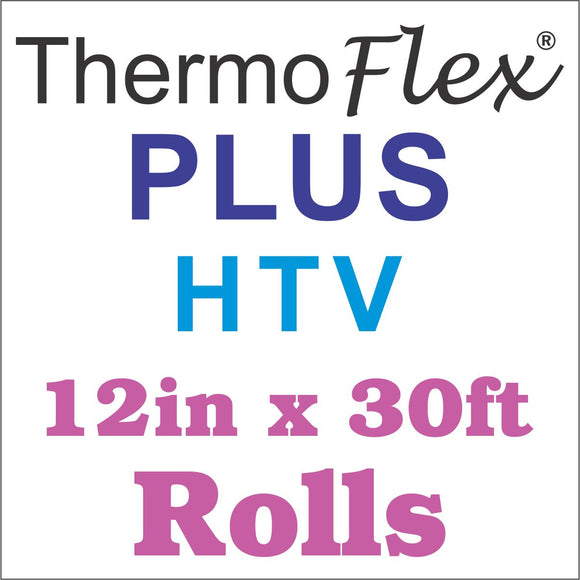 ThermoFlex® Plus HTV 12in x 30ft Rolls - CraftCutterSupply.com