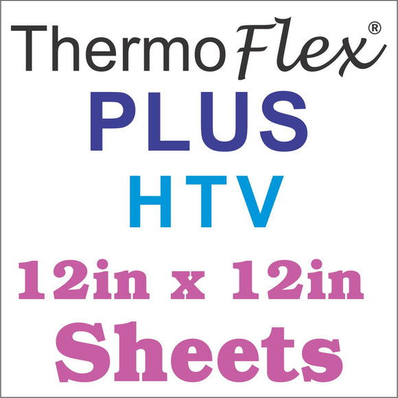 ThermoFlex® Plus HTV 12x12 Sheets - Wholesale Bulk Discount - CraftCutterSupply.com